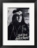 Framed I Love You Alice B Toklas