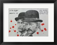 Framed Butch Cassidy and the Sundance Kid B&W Blood Splatter