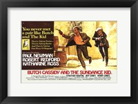 Framed Butch Cassidy and the Sundance Kid Horizontal