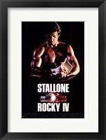 Framed Rocky 4 Sylvester Stallone