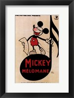 Framed Mickey Mouse - music note