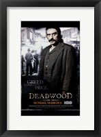 Framed Deadwood Ian McShane Up Close
