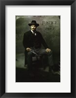 Framed Deadwood Timothy Olyphant as Seth Bullock