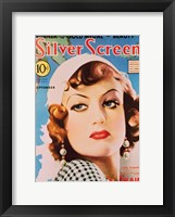 Framed Joan Crawford - Blue Silver Screen