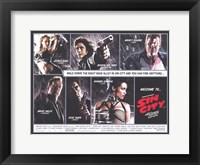 Framed Sin City Comic Strip