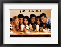 Framed Friends (TV) Cast Drinking Milkshakes