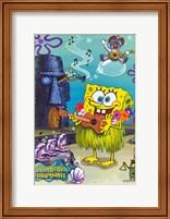 Framed SpongeBob SquarePants - Hula