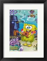 Framed SpongeBob SquarePants - Hula