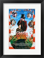 Framed Charlie and the Chocolate Factory Candy Cane Trees