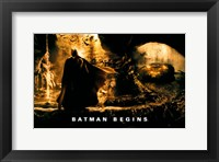 Batman Begins Batmobile Yellow Framed Print