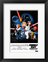 Framed Family Guy Star Wars