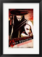 Framed V for Vendetta Pop