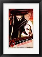 Framed V for Vendetta Pop