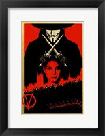 Framed V for Vendetta Black and Red