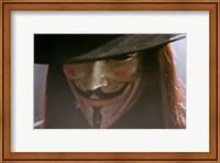 Framed V for Vendetta Close Up Screen Shot