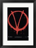 Framed V for Vendetta Logo