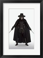 Framed V for Vendetta with Knives
