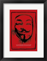 Framed V for Vendetta Mask