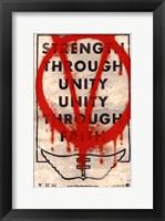 Framed V for Vendetta Strength Through Unity