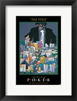 World Series of Poker The Strip Framed Print
