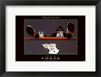 Framed World Series of Poker Royal Flush