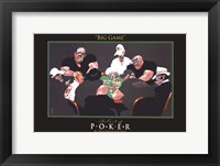 World Series of Poker Big Game Framed Print