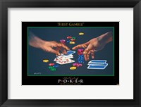 World Series of Poker First Gamble Framed Print