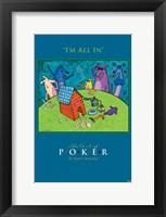World Series of Poker I'm All In Animals Framed Print