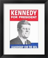 Framed Kennedy For President
