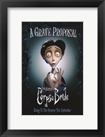 Framed Corpse Bride Grave Proposal