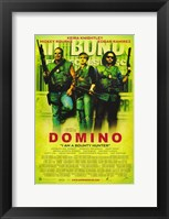 Framed Domino - Neon green