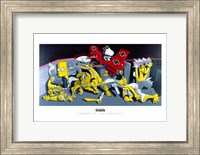 Framed Snoopy vs. The Simpsons