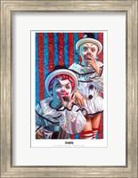 Framed Clown Kids Smoking