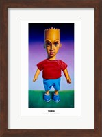Framed Mars Simpson