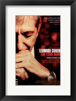 Framed Leonard Cohen I'm Your Man