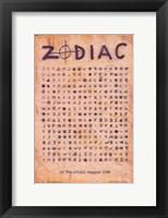 Framed Zodiac - symbols