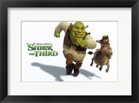 Framed Shrek the Third Racing Donkey