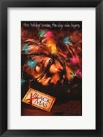 Framed Black Christmas