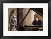 Framed Music and Lyrics - couple at a piano