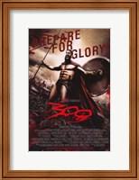 Framed 300 Prepare for Glory King Leonidas