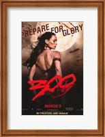 Framed 300 Prepare for Glory Queen Gorgo