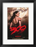 Framed 300 Prepare for Glory Queen Gorgo