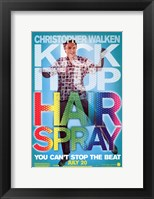 Framed Hairspray - Christopher Walken