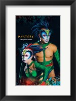 Framed Cirque du Soleil - Mystere, c.1993 (green lizards)