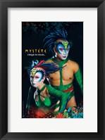 Framed Cirque du Soleil - Mystere, c.1993 (green lizards)