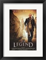 Framed I Am Legend - walking alone