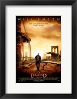 Framed I Am Legend - Will Smith