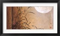 Framed Lakeside Moonrise