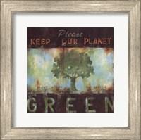 Framed Green Planet