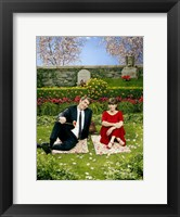 Framed Pushing Daisies Charolette and Ned on Blanket